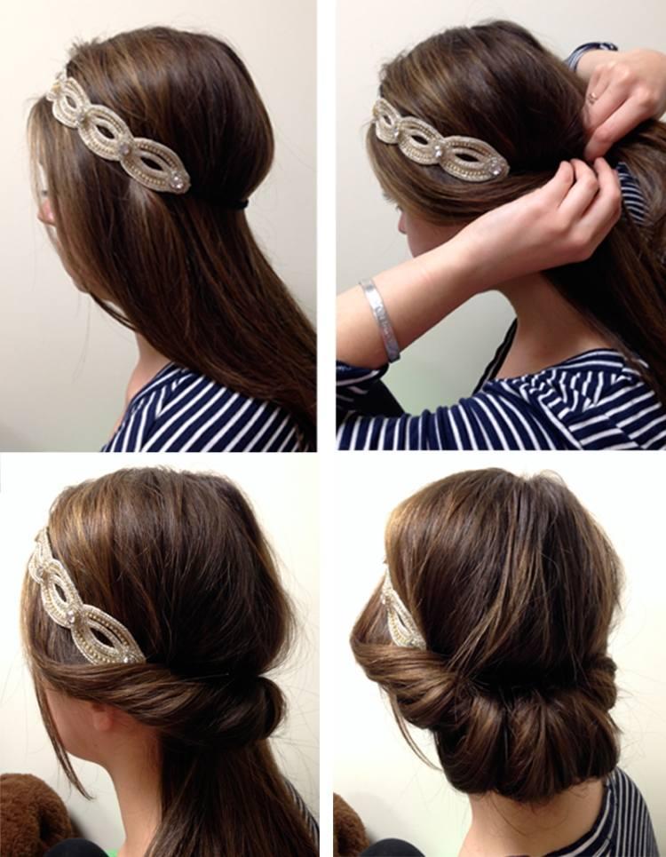 Frisuren Mit Haarband Zum Selber Machen