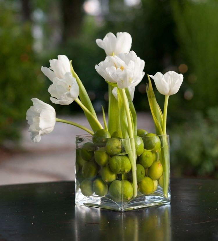 Frhlingsdeko mit Tulpen Gestecke selber arrangieren