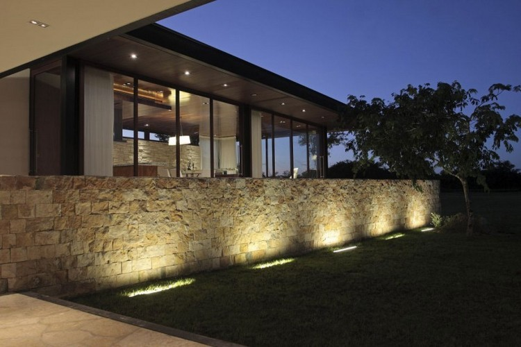 beleuchtung gartenmauer - boisholz, Terrassen ideen
