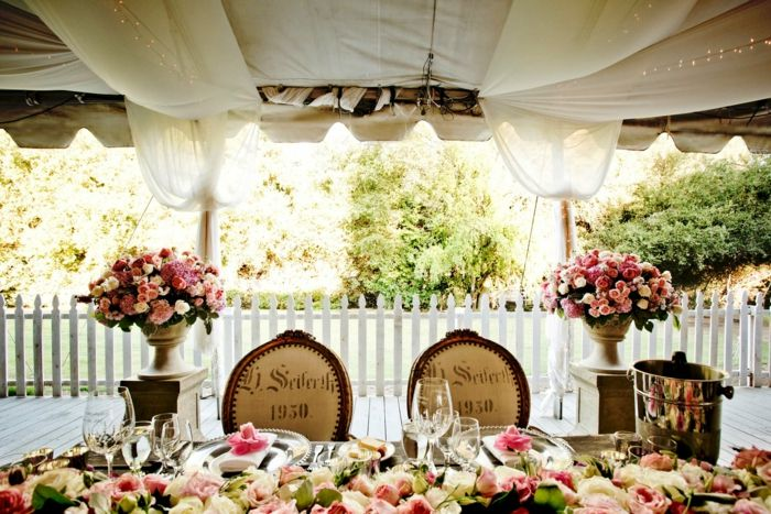 Brautpaar Tischdeko  16 inspirierende Ideen fr die Hochzeit