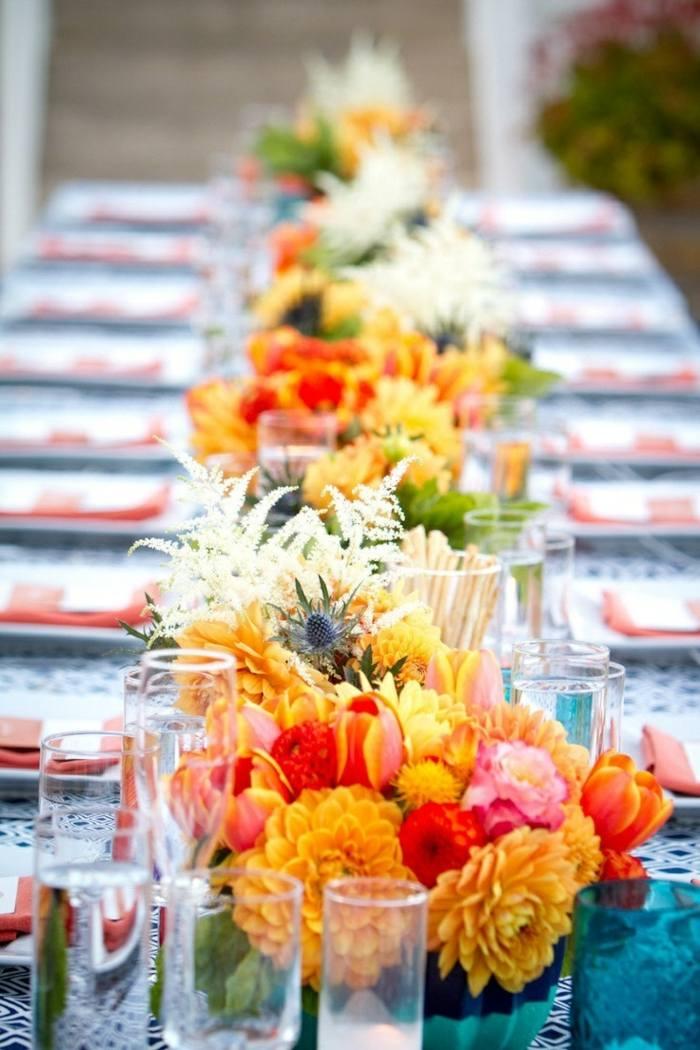 Tischdeko zur Sommer Hochzeit  18 blumige Inspirationen