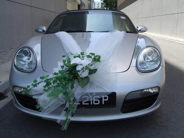 Autoschmuck fr Hochzeit  55 Dekoideen mit Blumen