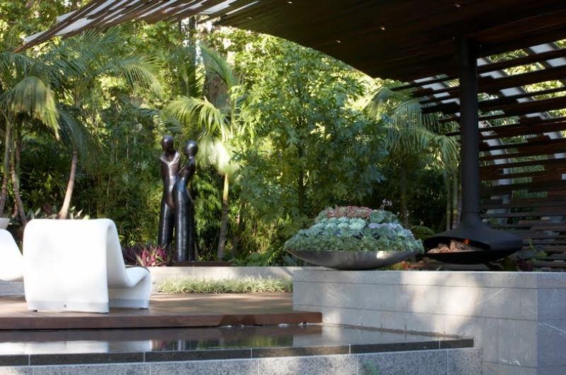 Gartendeko Ideen  55 Gartenskulpturen und Blumentpfe