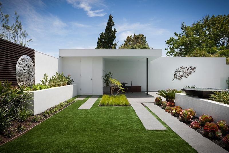... Gartendeko Ideen 55 Gartenskulpturen Und Blumentöpfe