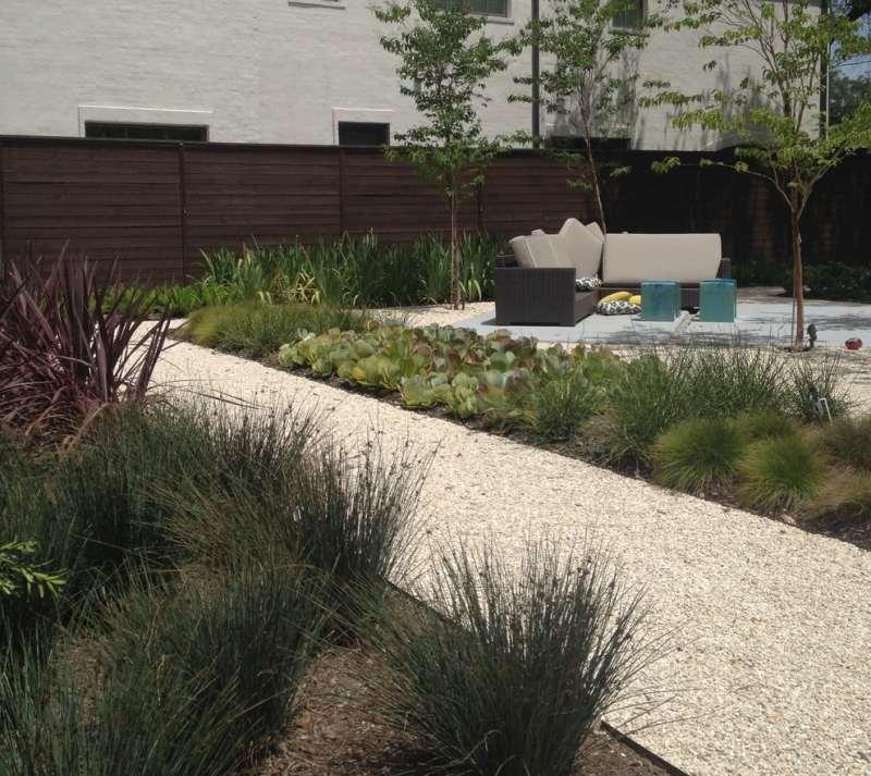 Gartengestaltung mit Kies  Ideen mit Naturstein und Grsern
