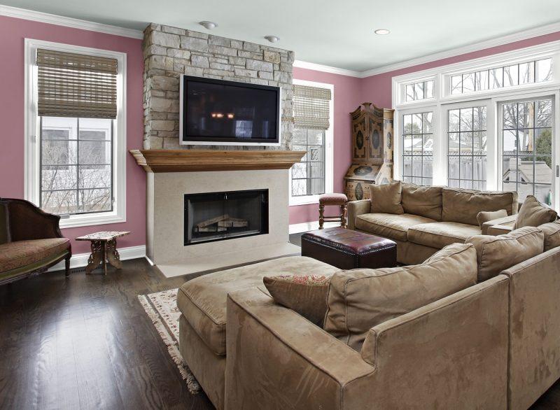Wandfarben frs Wohnzimmer  25 Gestaltungsideen