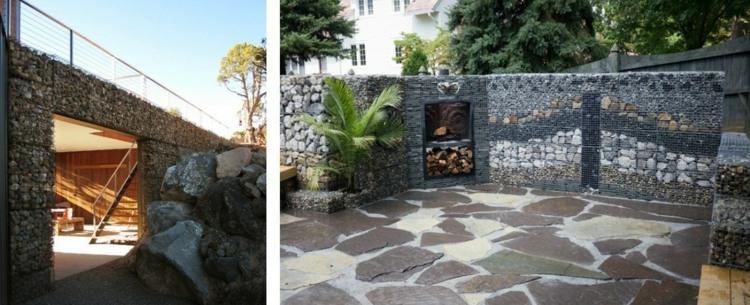 Gabionen Als Deko Im Garten Mauern Und Andere Ideen