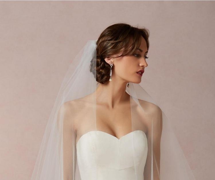 24 Brautfrisuren Mit Schleier Für Mittellanges Haar