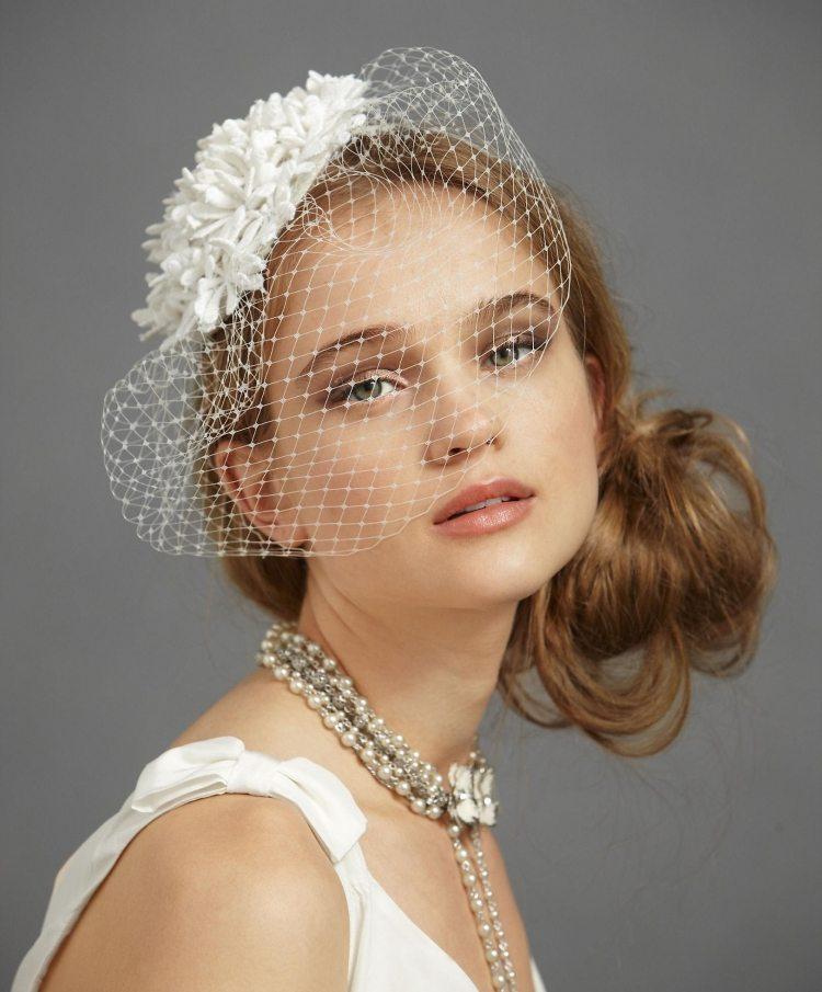 24 Brautfrisuren mit Schleier fr mittellanges Haar