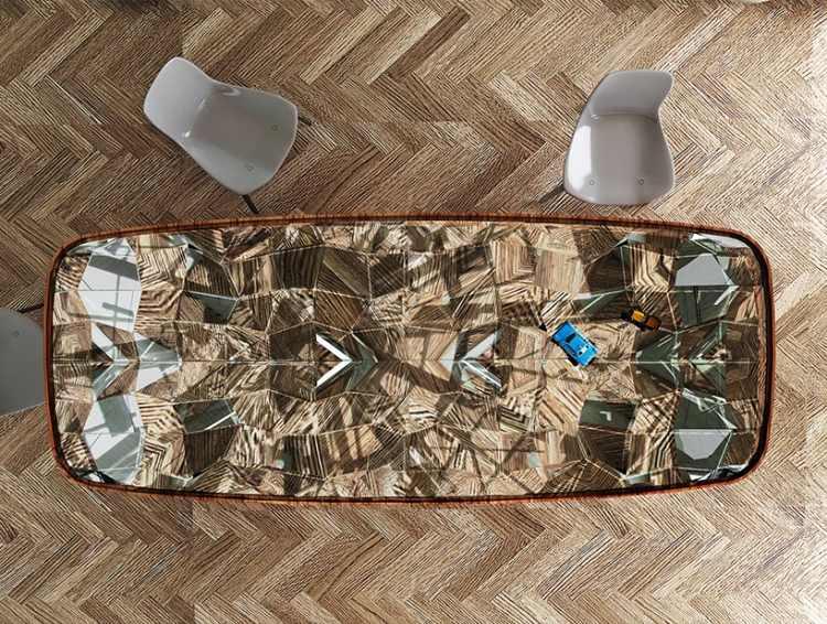 Der innovative ausziehbare Esstisch Fletcher Capstan aus Massivholz