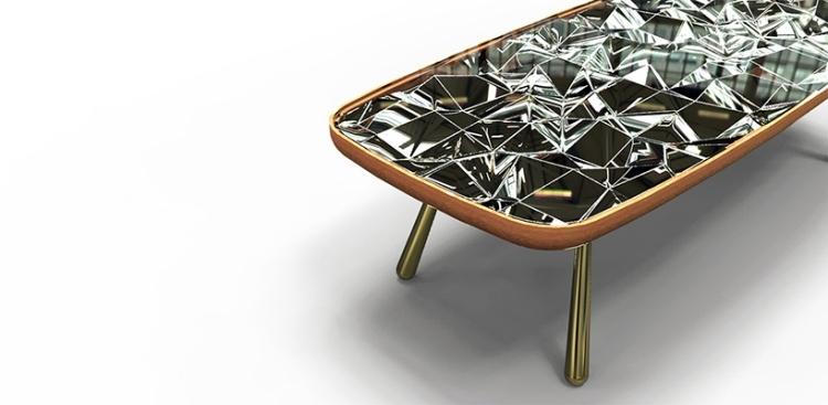 Designer Esstisch erzeugt wunderschne KaleidoskopEffekte