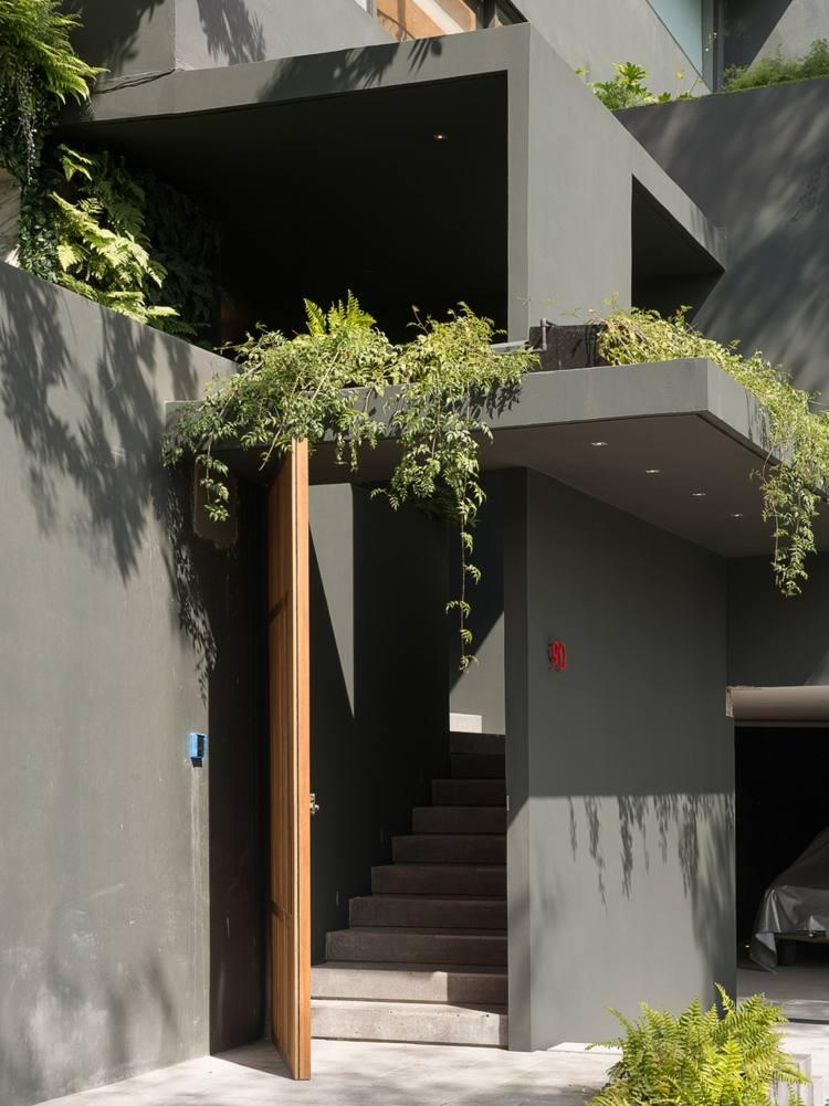 Monochrome Einrichtung in Grau  Ein Traumhaus in Mexiko