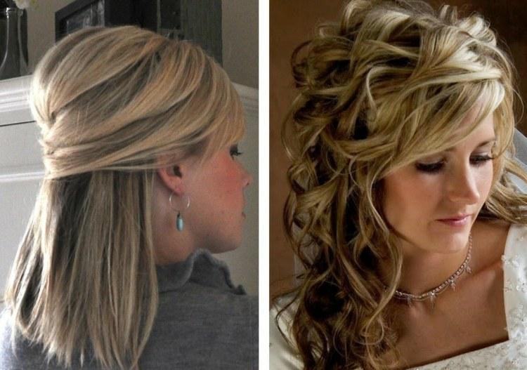 Festliche Frisuren Halb Hochgesteckt Frisuren Mittellang