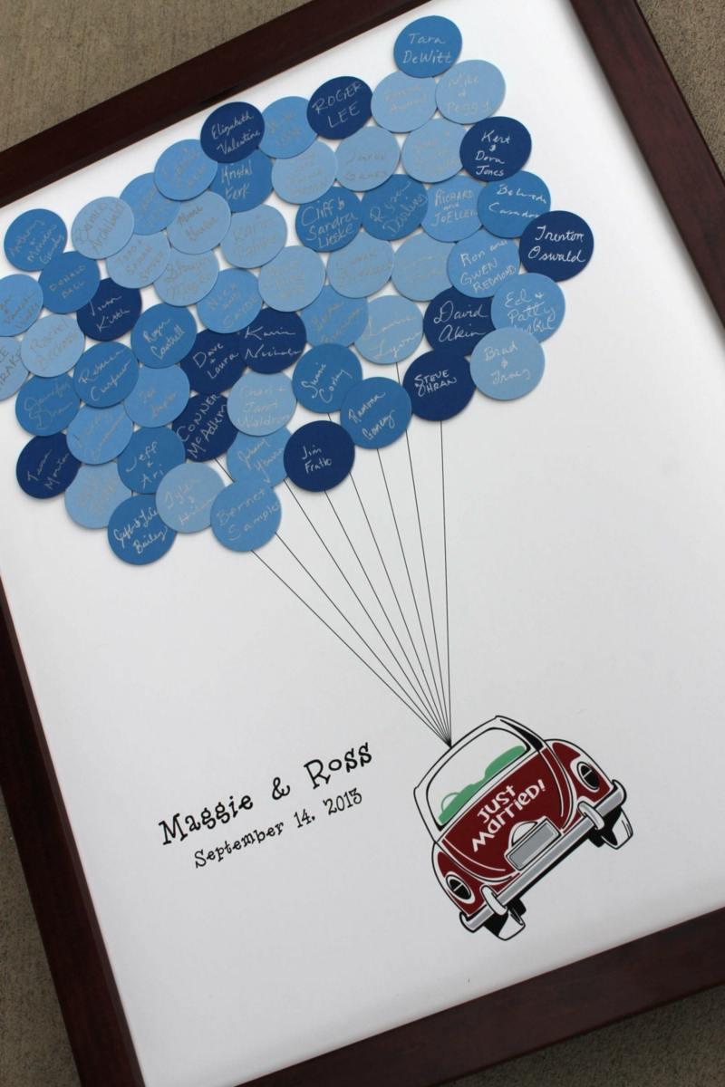Gstebuch fr Hochzeit selbst gestalten  Kreative Bastelideen