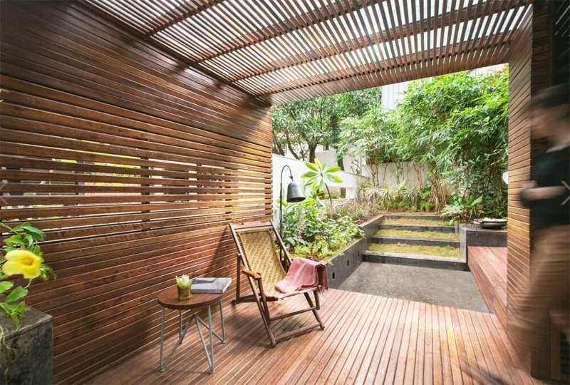 gartengestaltung modern mit holz und granit gartengestaltung, Garten und Bauten