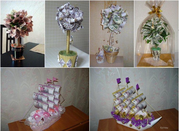 Geldgeschenke zur Hochzeit originell verpacken  47 Ideen