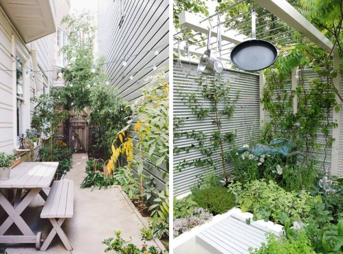 Kleinen Garten Mit Viel Grn Und Duftenden Blumen Gestalten