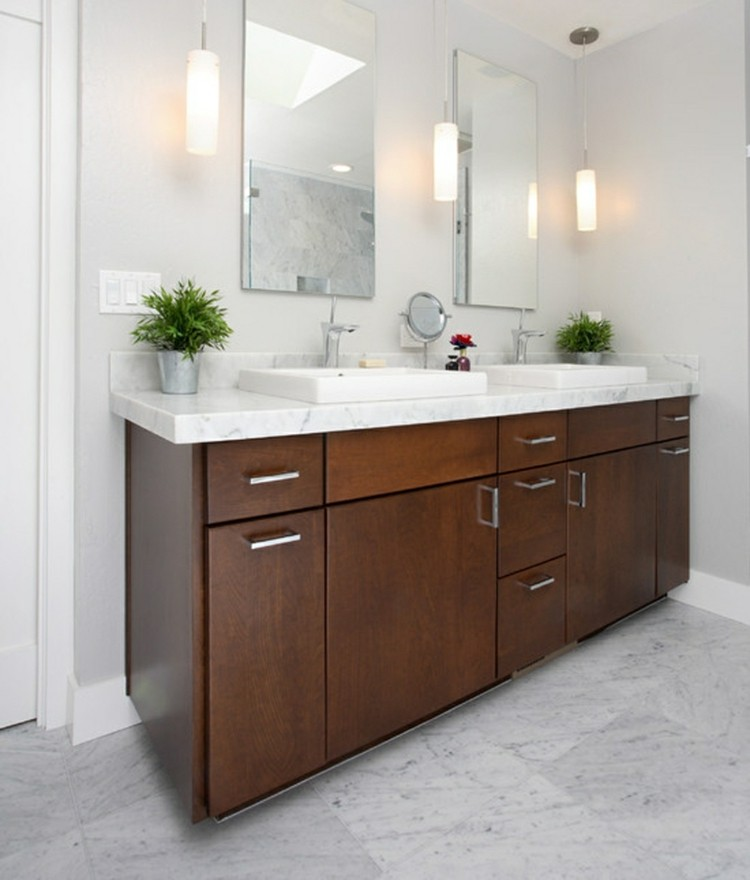 Waschtisch Beleuchtung im Bad  22 tolle Ideen als Anregung