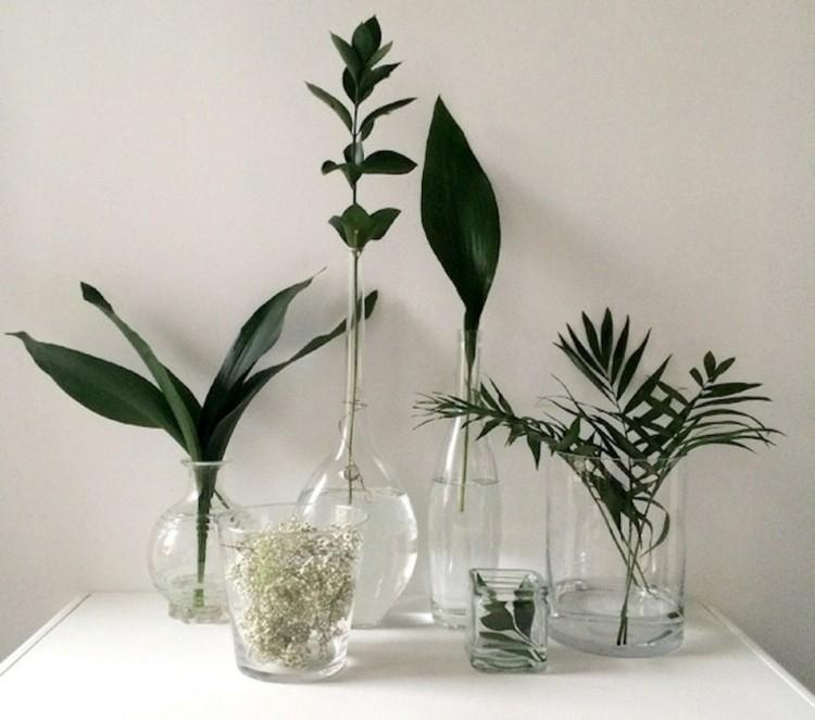 Deko aus grnen Pflanzen im Frhling selber machen