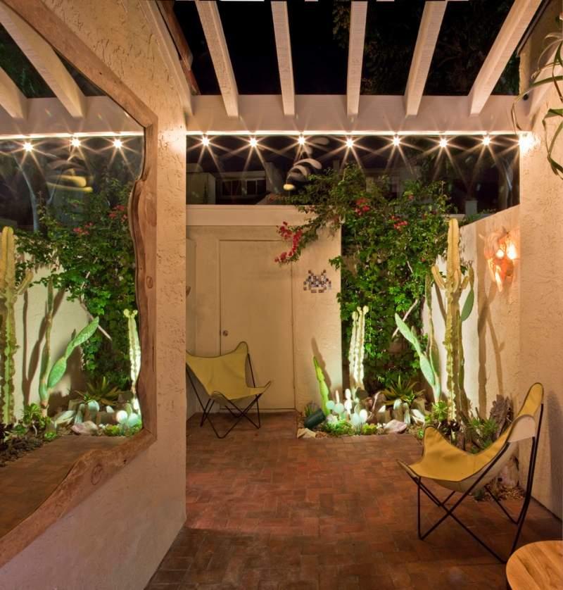 50 Gartenbeleuchtung Ideen mit Party Lichterketten auen