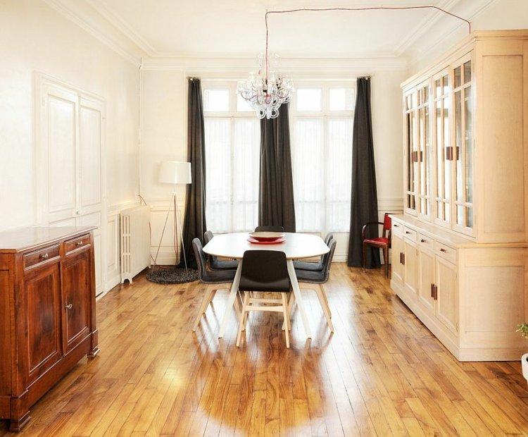 Schwarz im Esszimmer fr eine stilvolle und dramatische Einrichtung