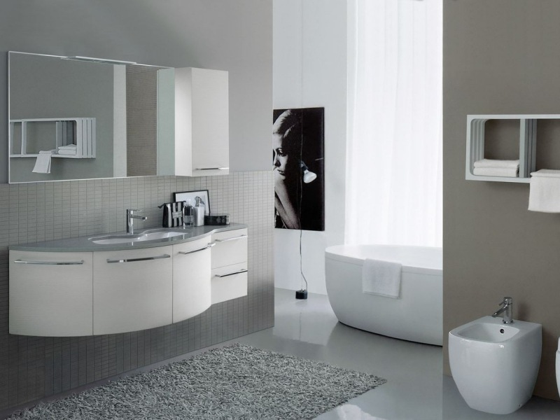 Badezimmermbel in Wei  38 moderne Badmbel Sets