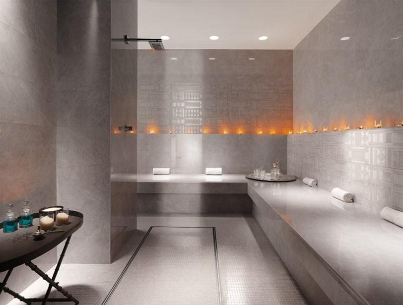 Badezimmer Fliesen Sandfarben | Bad Mit Mosaikfliesen ...