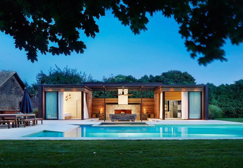 Gartenhaus mit Terrasse  ein modernes Projekt aus den USA
