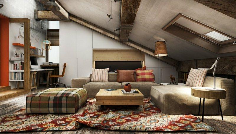 Wohnideen mit Dachschrge in Kche Bad Wohn  Schlafzimmer