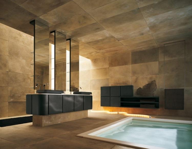 Doppelwaschtisch mit Aufsatzbecken  50 moderne Sets