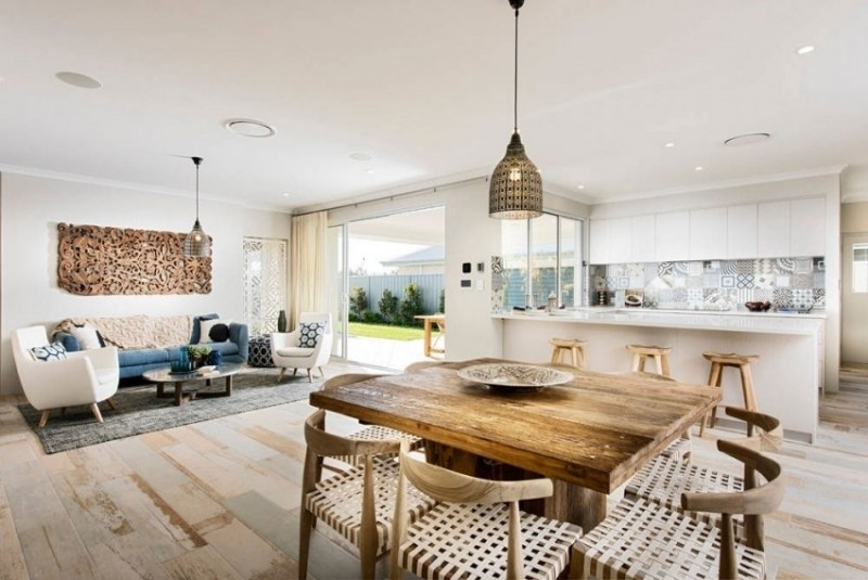 hampton style kitchen design inspired space | moregs, Esszimmer