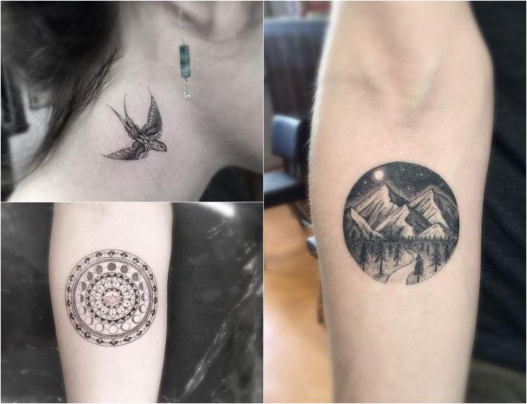 45 filigrane Tattoo Motive mit geometrischen Formen