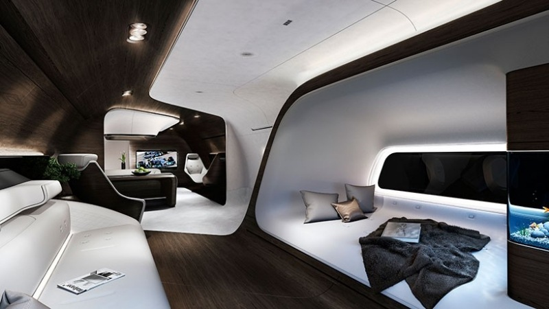 High Tech Design im Luxus Flieger  Technik und Interieur