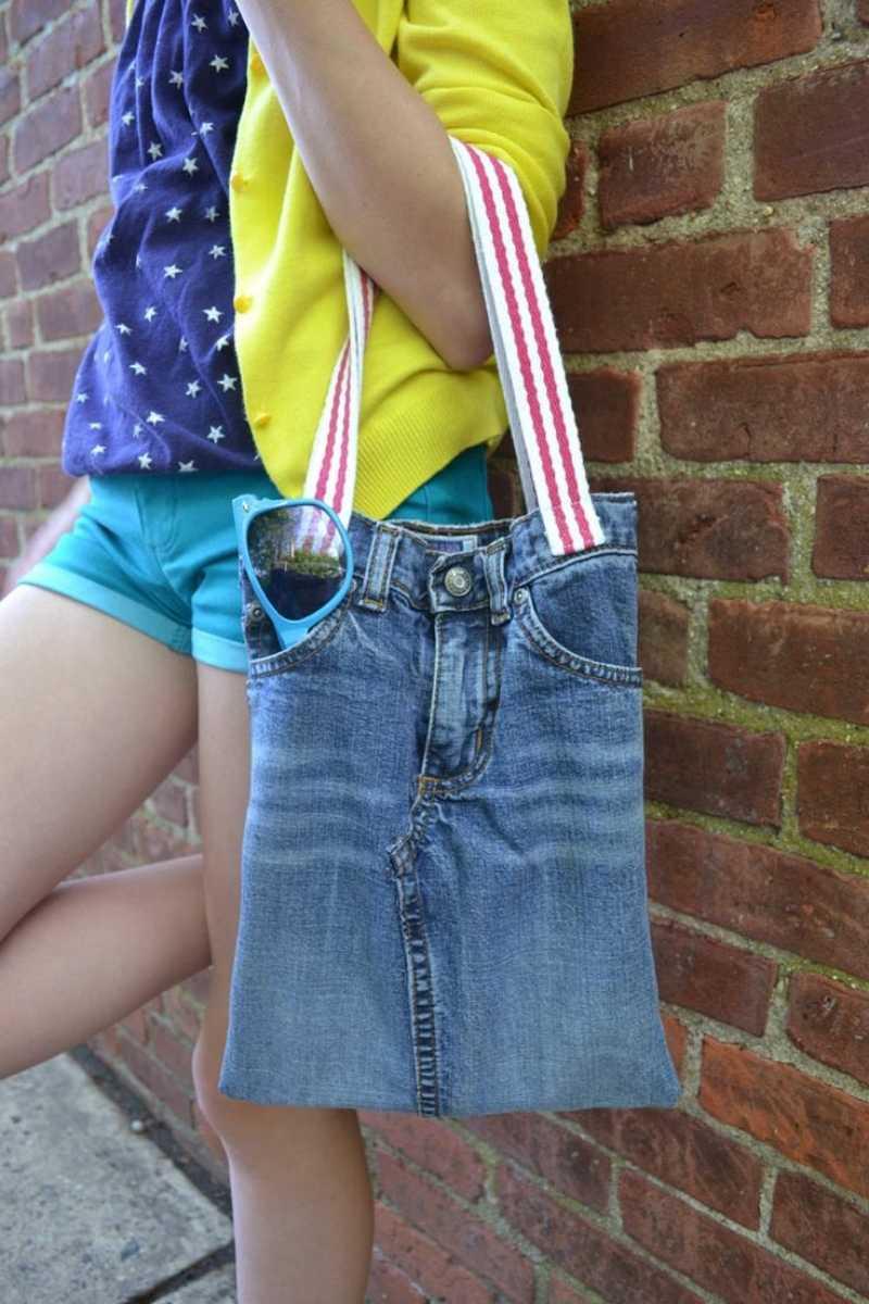 Taschen Aus Jeanshosen Selber Nähen Instagram Jeanstasche 圖片視頻