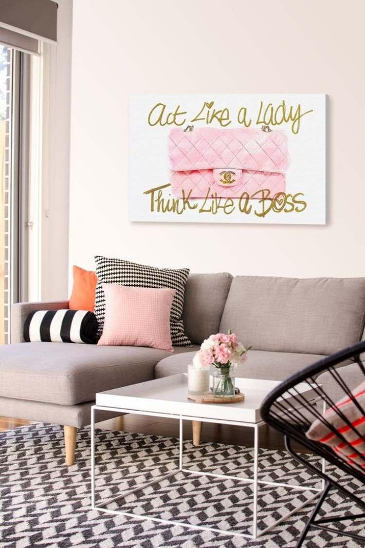 Wandgestaltung mit Bildern im Wohnzimmer  25 Ideen
