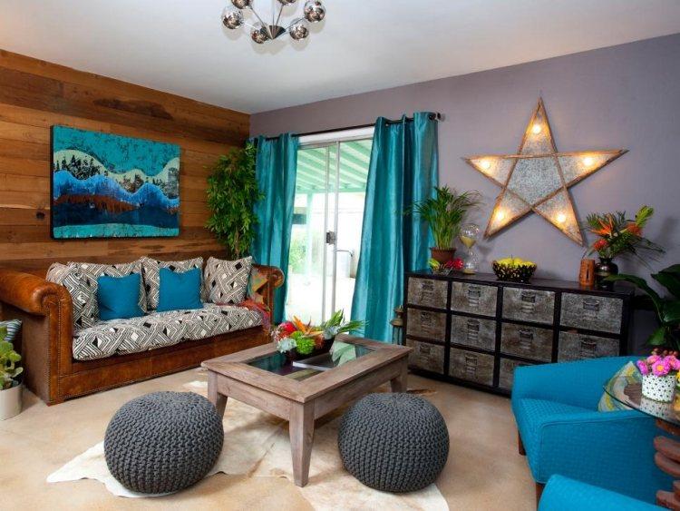 Wohnzimmer Accessoires Holz Dumss Com | Ifmore Wohnzimmer Blau Holz