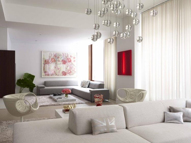 Wohnzimmer Modern Grau Rot – msglocal.info