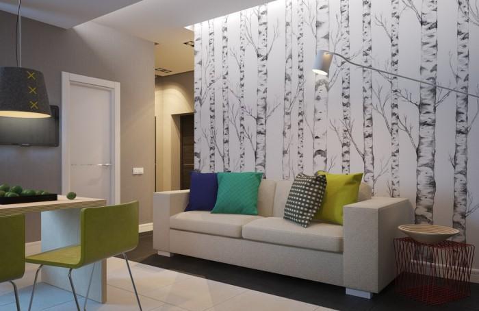 sofa erstellen scandinavian grey zimmer farblich gestalten: tapete und farbe kombinieren