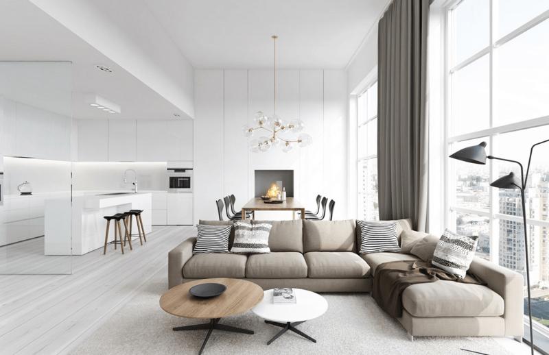 Wohnzimmer Modernes Sofa Ideen L