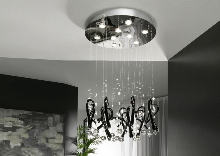 Wohnzimmerlampen Ideen  25 stilvolle DesignerModelle