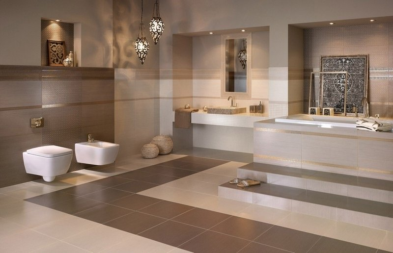... Badezimmer In Beige Modern Gestalten Tipps Und Ideen · Badezimmer Braun  ...