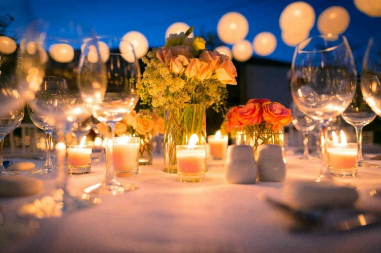 Gartenparty Deko und Beleuchtung  Ideen fr Feier am Abend