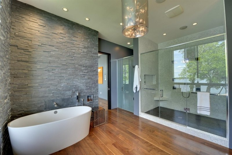 Holzboden Bad | Holz Hat Keine Angst Vor Wassertropfen ...