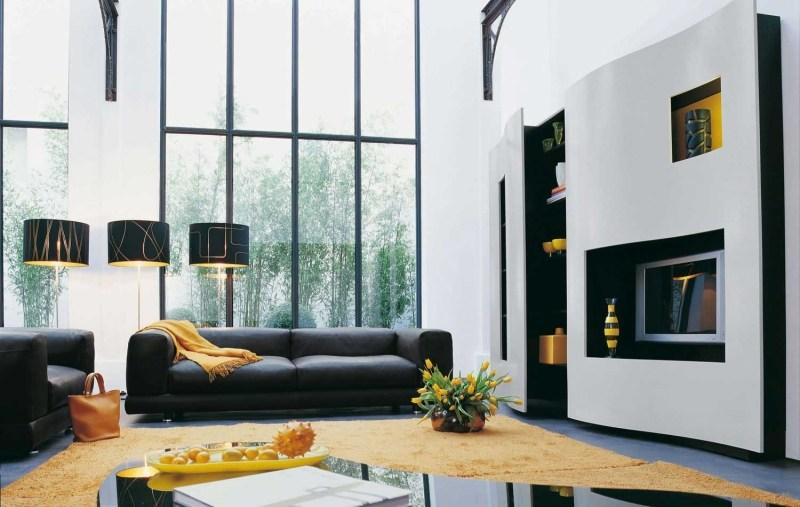 Wohnzimmer Schwarz Gelb ~ Inspirierende Bilder Von Wohnzimmer ... Wohnzimmer Grau Gelb
