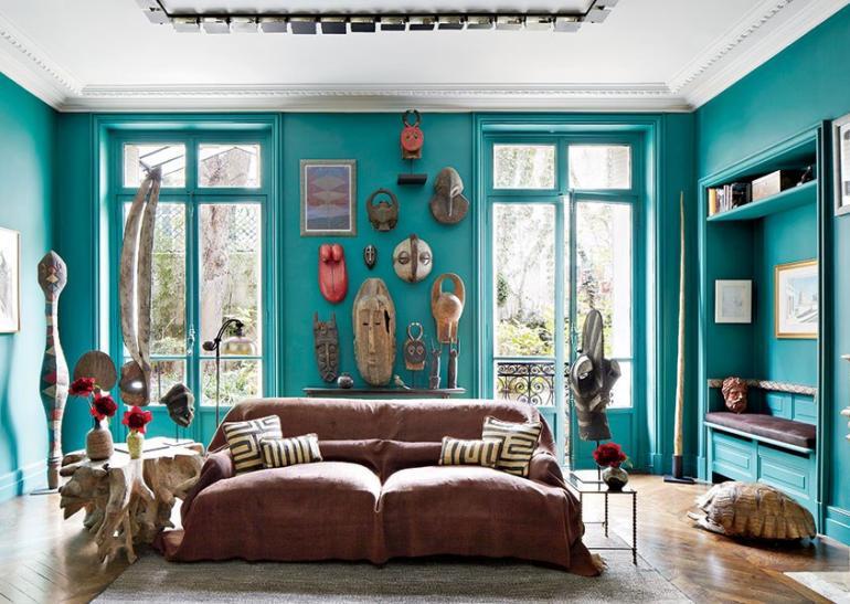 Wandfarbe trkis  37 Gestaltungsideen mit SommerFlair