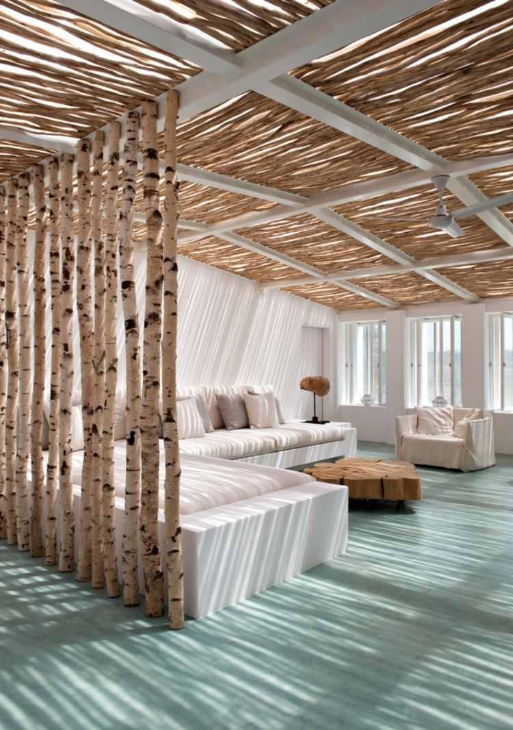 Raumteiler Aus Holz   Dekostoff   Holzbretter