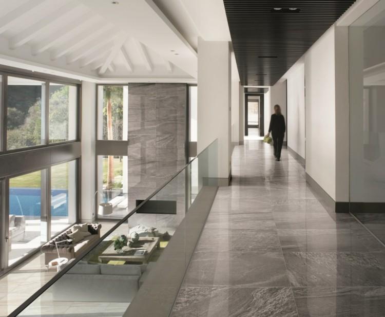 Graue Fliesen fr Wand und Boden  55 moderne Wohnideen
