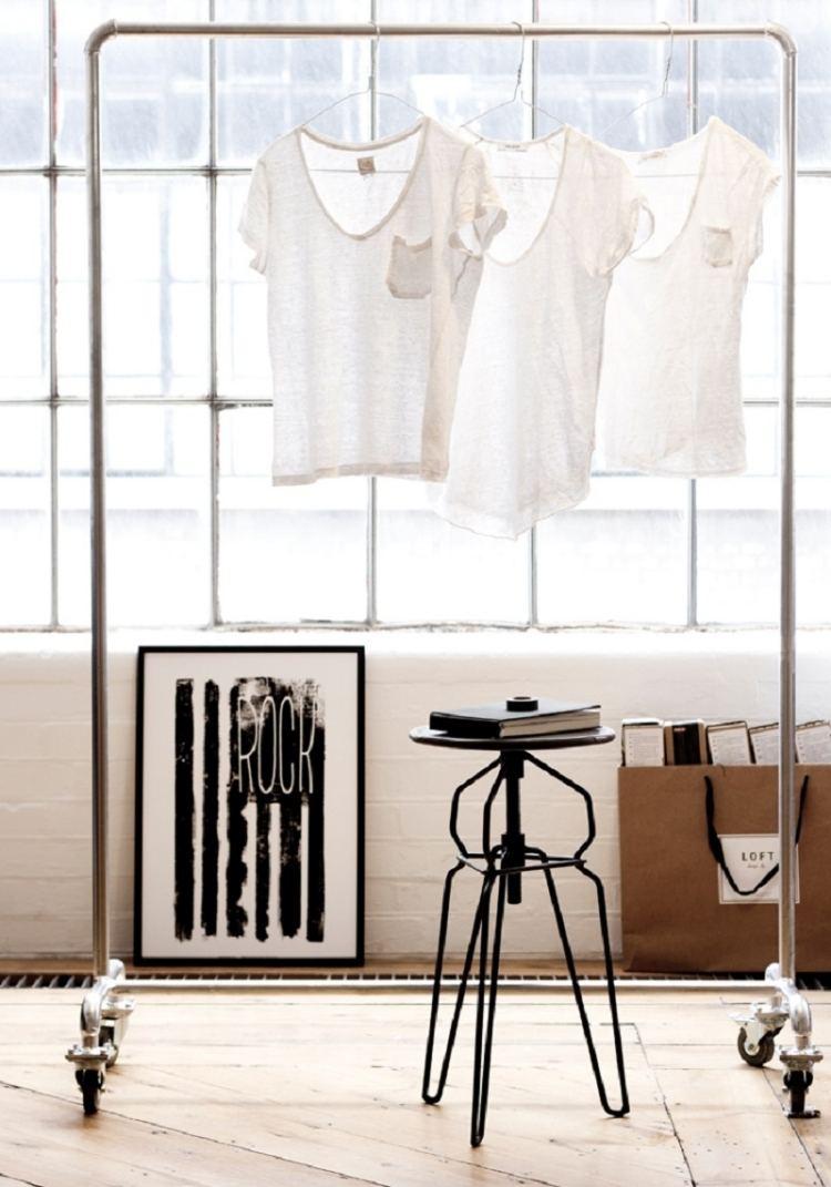 Kleiderstange statt Kleiderschrank  Ideen fr Modeliebhaber