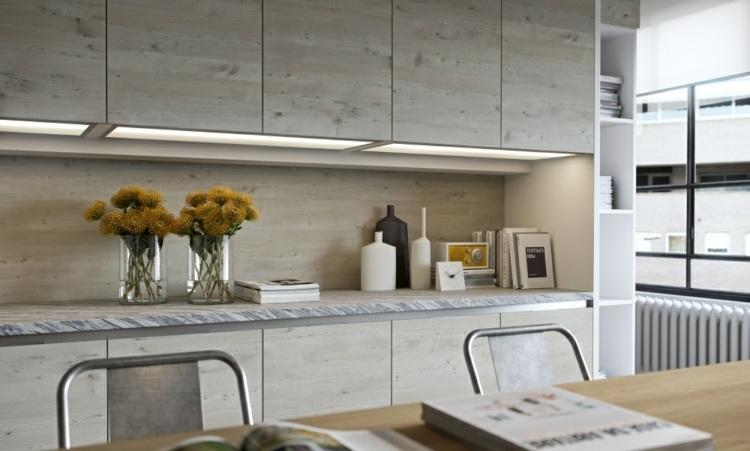 wandpaneele kche mit glanz verleihen dem kochraum einzigartigen ... - Wandpaneele Küche Holzoptik