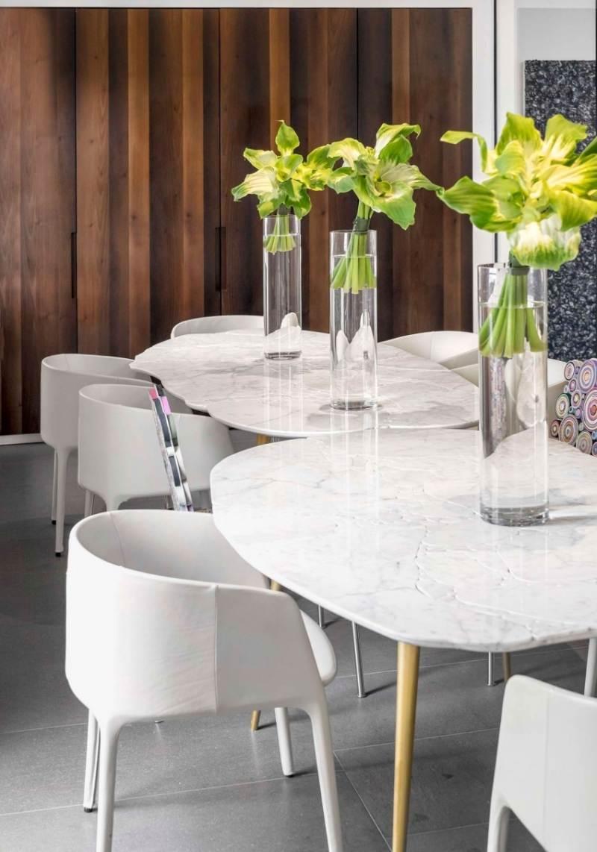 Moderne Einrichtung in neutralen Farben Penthouse in London